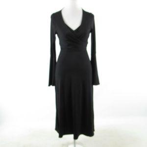 Black CINQ A SEPT 5 A 7   bell sleeve wrap dress 2